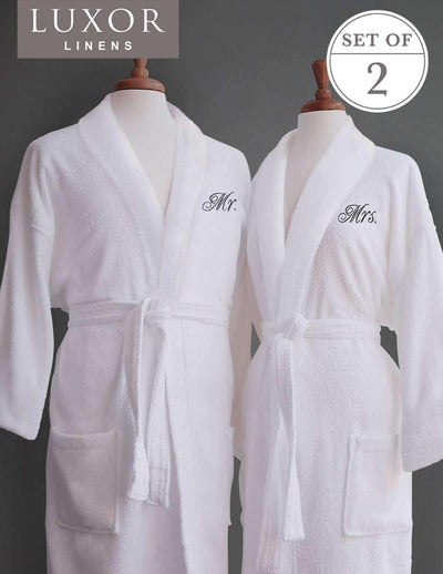 Lakeview Signature Egyptian Cotton Terry Spa Robes - Luxor Linens