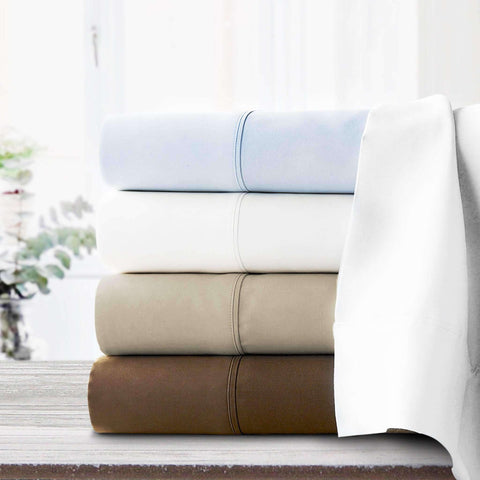 Adriana Sateen Egyptian Cotton Pillow Cases - Luxor Linens