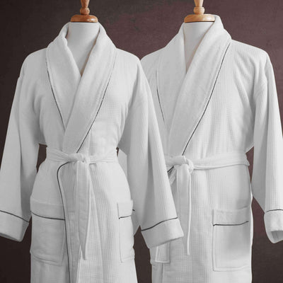 Buonaparte Egyptian Cotton Waffle Weave Luxury Spa Robe - Luxor Linens