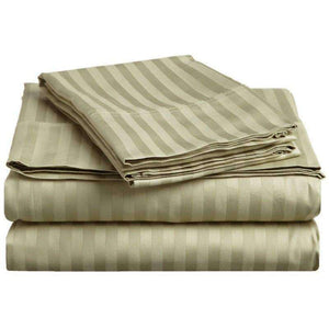 Caterina 600  Thread Count Stripe Egyptian Cotton Sheet Set - Luxor Linens