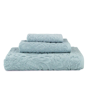 Fonte Long Staple Combed Turkish Cotton Piece Dye Jacquard Towel Collection - Luxor Linens