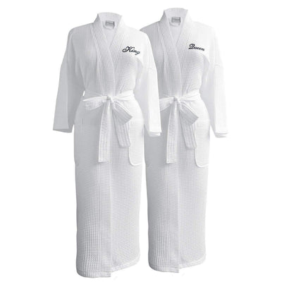 Lakeview Signature Egyptian Cotton Resort Waffle Spa Robe - Fun Gifts - Luxor Linens