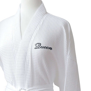 Lakeview Signature Egyptian Cotton Resort Waffle Spa Robe - Luxor Linens