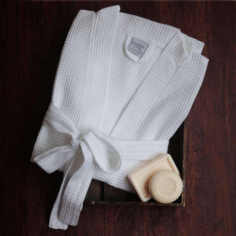 Signature Egyptian Cotton Resort Waffle Spa Robe - Luxor Linens