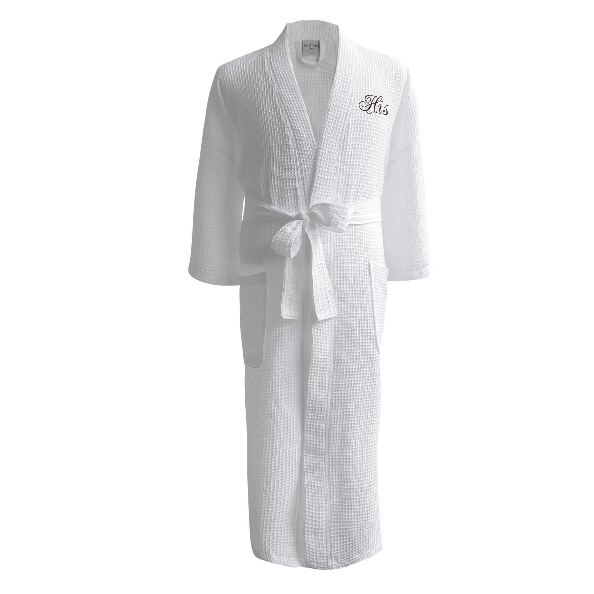 Lakeview Signature Egyptian Cotton Resort Waffle Spa Robe - Luxor Linens 5e4f8050e