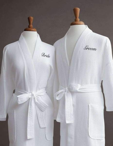 Lakeview Signature Egyptian Cotton Resort Waffle Spa Robe - Fun Gifts
