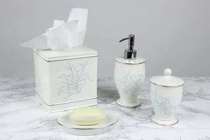 Maison de Luxe - Blue Bath Accessories - Luxor Linens