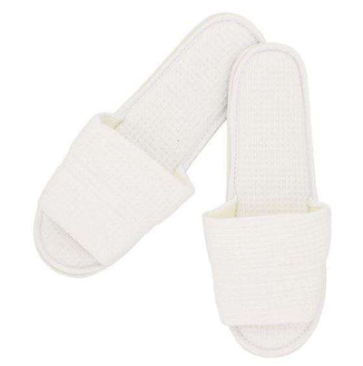 Lakeview Waffle Spa Slippers - Luxor Linens