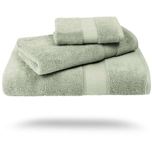 Mariabella Luxe Egyptian Cotton 3-pcs Towel Set - with Embroidery and Gift Packaging - Luxor Linens