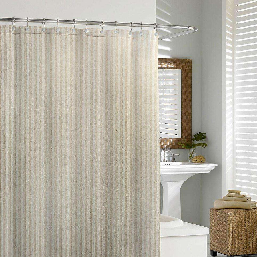 Octavio Linen Shower Curtain - Luxor Linens