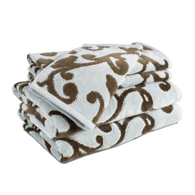 Provance Hotel Luxury Jacquard 5-Piece Towel Set - Luxor Linens