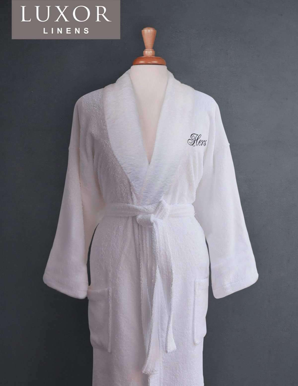 Lakeview Signature Egyptian Cotton Terry Spa Robes - Luxor Linens 27a896cdc