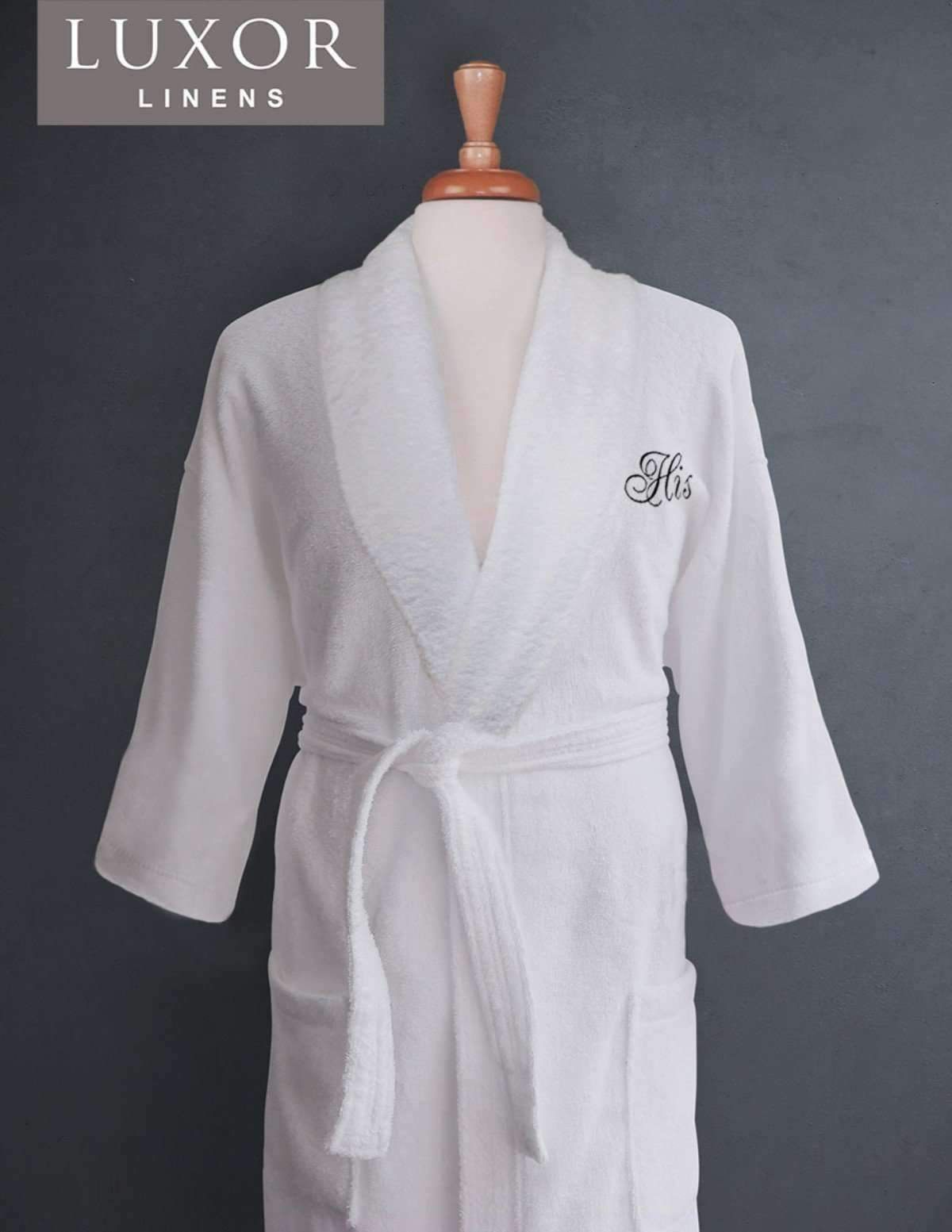 Lakeview Signature Egyptian Cotton Terry Spa Robes - Fun Gifts
