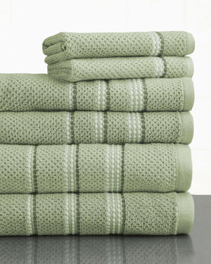 Tribeca  100% Fine Ring Spun Cotton Rice Weave Spa Towels - Luxor Linens