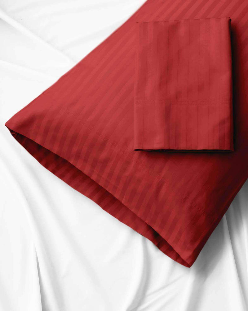 Valentino Striped Egyptian Cotton Pillowcases 1200 Thread Count