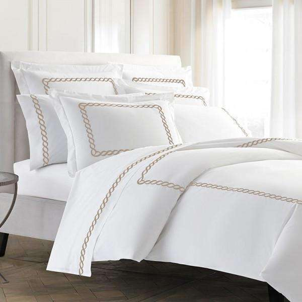 Pisano Eucalyptus Percale Embroidered Duvet Cover