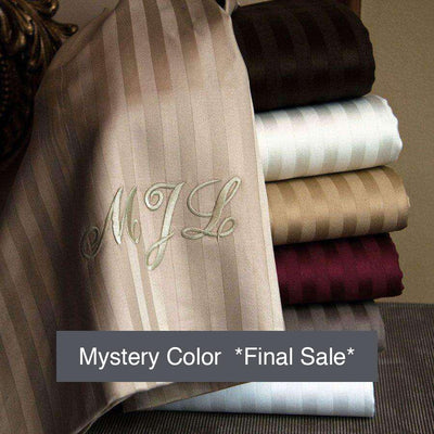 Valentino 1200 Thread Count Egyptian Cotton Sheet Set - Striped Pattern