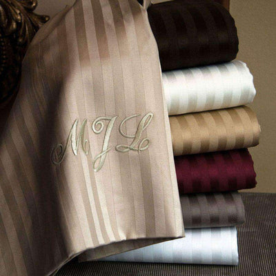 Valentino Stripe 1200 Thread Count Egyptian Cotton Sheet Set - Luxor Linens