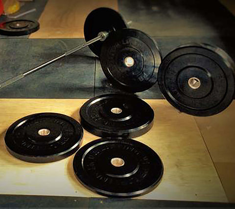 Men's Bar & Garage Gym Bumper Plate Sets