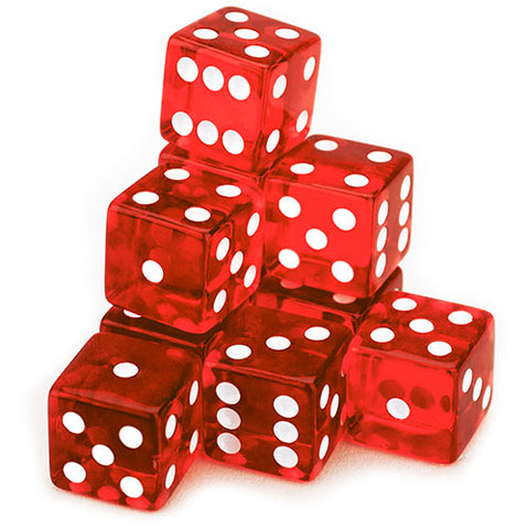 10 Red Dice - 19 mm