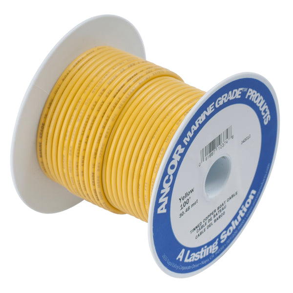 Ancor Yellow 4 AWG Battery Cable - 25' - 113902