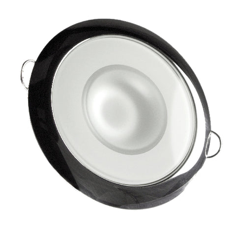 Lumitec Mirage - Flush Mount Down Light - Glass Finish-Polished SS Bezel - Warm White Dimming [113119]