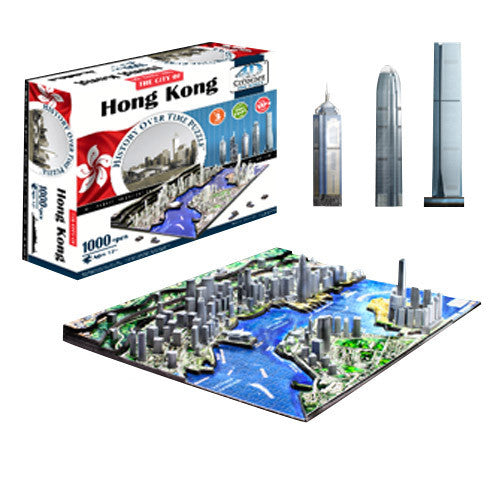 4D Hong Kong Skyline Time Puzzle