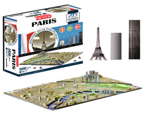 4D Paris Skyline Time Puzzle