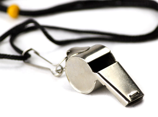 Stainless Steel Coach's Whistle with Lanyard
