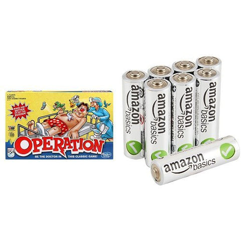 Operation Game with AmazonBasics AA Batteries Bundle