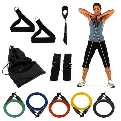 Wacces® NEW 5 Resistance Bands SET for Yoga, ABS & Gym Workout -#