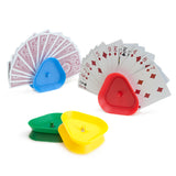 Set of 4 Triangle-shaped Hands-free Playing Card Holders