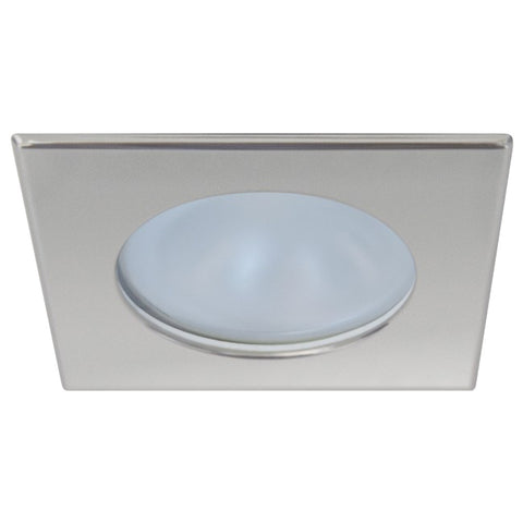 Quick Blake XP Downlight LED -  6W, IP66, Screw Mounted - Square Satin Bezel, Round Warm White Light - FAMP3022S12CA00