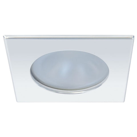 Quick Blake XP Downlight LED -  6W, IP66, Spring Mounted - Square Stainless Bezel, Round Warm White Light - FAMP3012X12CA00