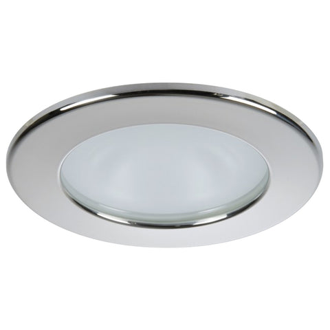 Quick Kai XP Downlight LED - 4W, IP66, Spring Mounted - Round Stainless Bezel, Round Warm White Light - FAMP2492X02CA00