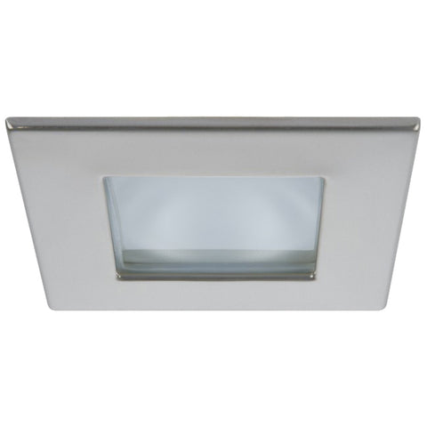 Quick Marina XP Downlight LED - 4W, IP66, Spring Mounted - Square Satin Bezel, Square Warm White Light - FAMP2992S02CA00