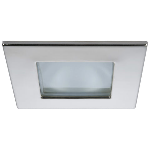 Quick Marina XP Downlight LED - 4W, IP66, Spring Mounted - Square Stainless Bezel, Round Daylight Light - FAMP2992X01CA00