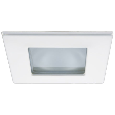 Quick Marina XP Downlight LED - 6W, IP66, Spring Mounted - Square White Bezel, Square Warm White Light - FAMP2992B12CA00