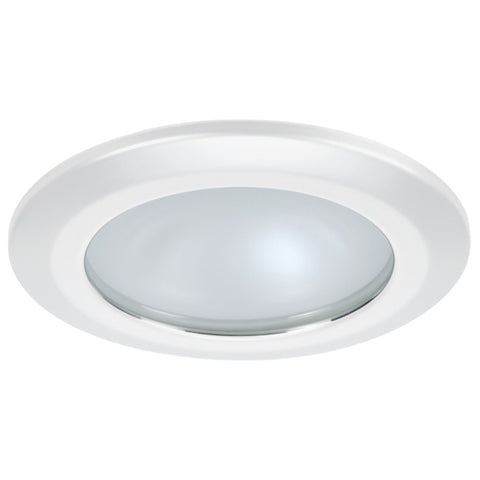 Quick Kor XP Downlight LED - 4W, IP66, Spring Mounted - Round White Bezel, Round Warm White Light - FAMP3252B02CA00