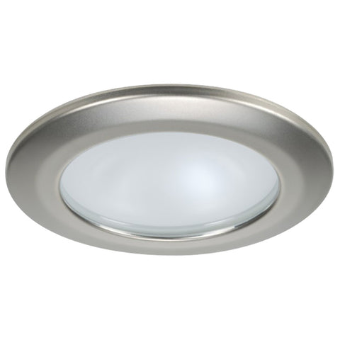 Quick Kor XP Downlight LED - 4W, IP66, Spring Mounted - Round Satin Bezel, Round Warm White Light - FAMP 3252S02CA00