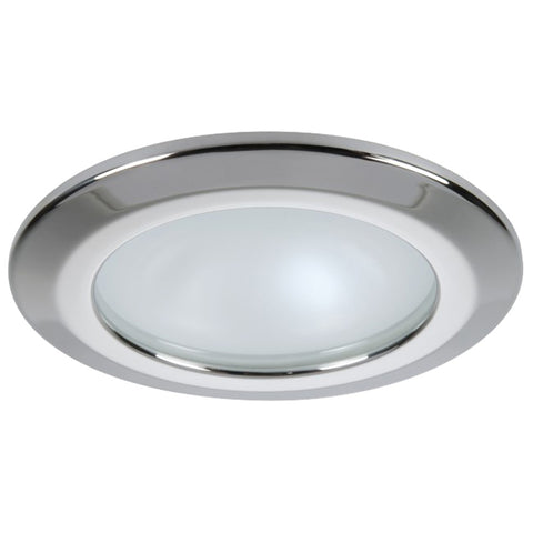 Quick Kor XP Downlight LED - 4W, IP66, Spring Mounted - Round Stainless Bezel, Round Daylight Light - FAMP3252X01CA00