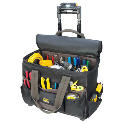 "CLC Tech Gear 17 Pocket - Light Handle 17"" Roller Bag - L258"