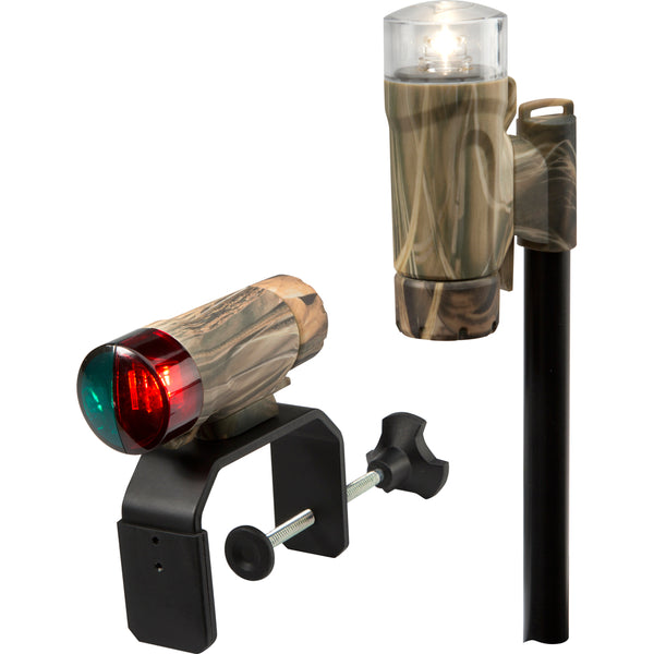 Attwood Clamp-On Portable LED Light Kit - RealTree® Max-4 Camo - 14191-7