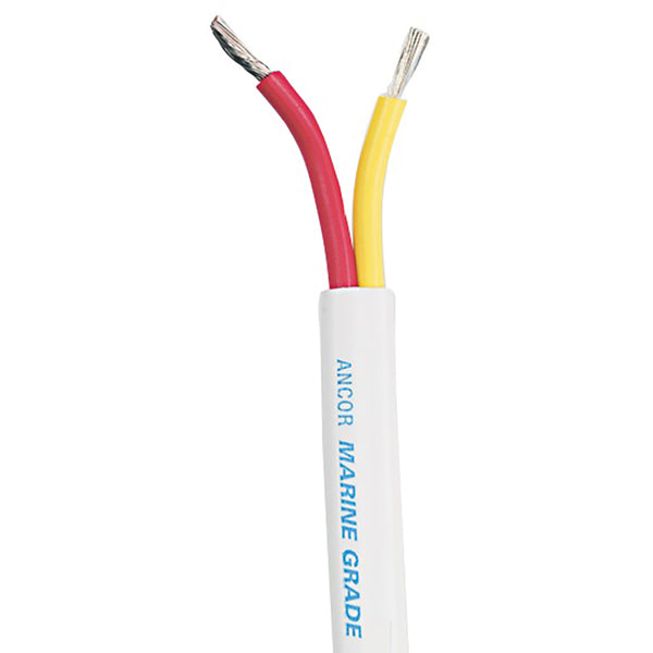 Ancor Safety Duplex Cable - 14/2 AWG - Red/Yellow - Flat - 25' - 124502