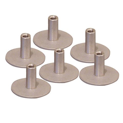 "Weld Mount Stainless Steel Standoff 1.25"" Base  1/4"" x 20 Thread .75    Tall - 6-Pack - 142012304"
