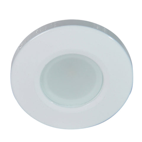 Lumitec Orbit Flush Mount Down Light - Blue Non Dimming, Red Non Dimming & White Dimming w-White Housing [112528]