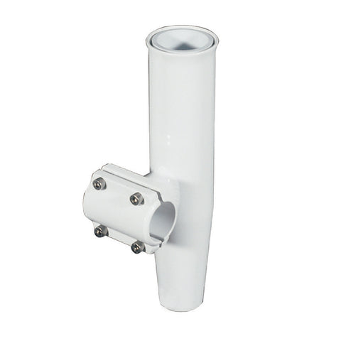 "Lee's Clamp-On Rod Holder - White Aluminum - Horizontal Mount - Fits 1.900"" O.D. Pipe - RA5204WH"