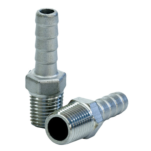 "Tigress Stainless Steel Pipe to Hose Adapter - 1/4"" IPS - 77910"