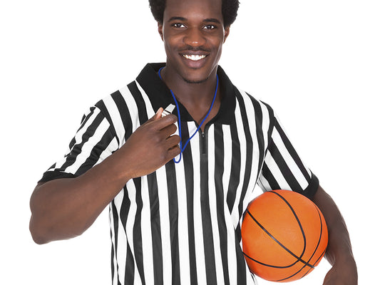 Men's Official Striped Referee/Umpire Jersey, XL