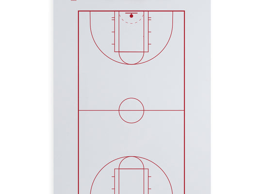 Dry Erase Basketball Coaching Clipboard
